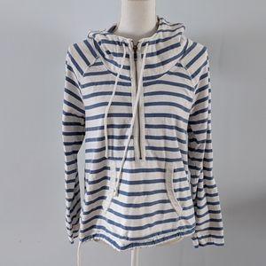 American Eagle Striped half zip beach hoodie EUC M